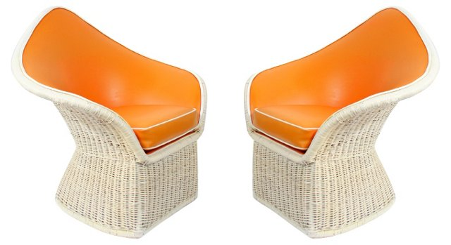 1970s Arthur Elrod Lounge Chairs, Pair