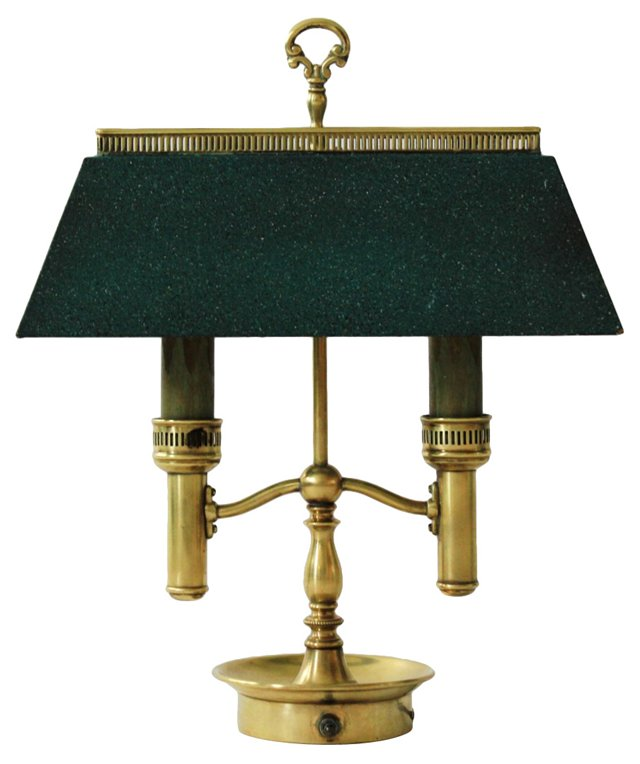 Brass 2-Arm Bouillotte Lamp