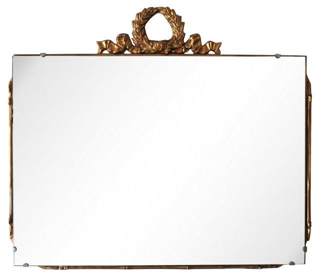 Bamboo-Style Giltwood Mirror
