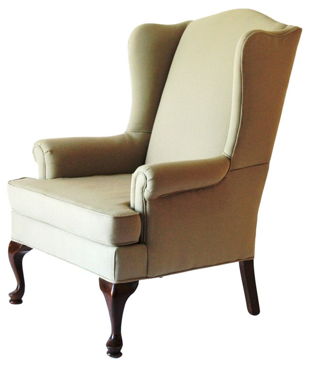 Queen Anne-Style Wingback