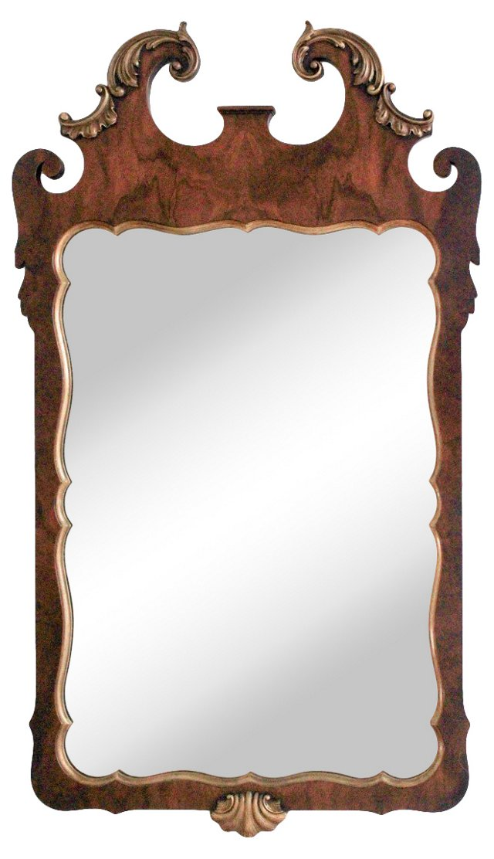 Parcel Gilt Chippendale-Style Mirror