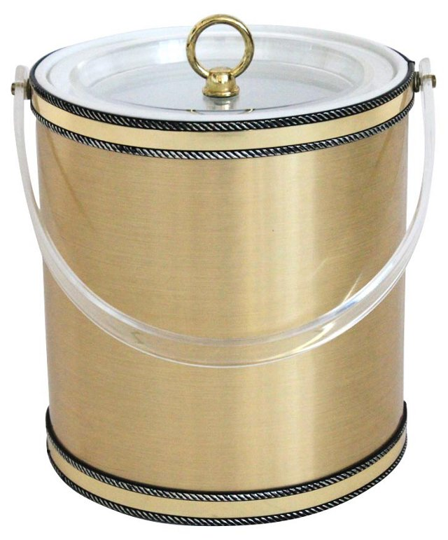 Georges Briard Ice Bucket w/ Lucite