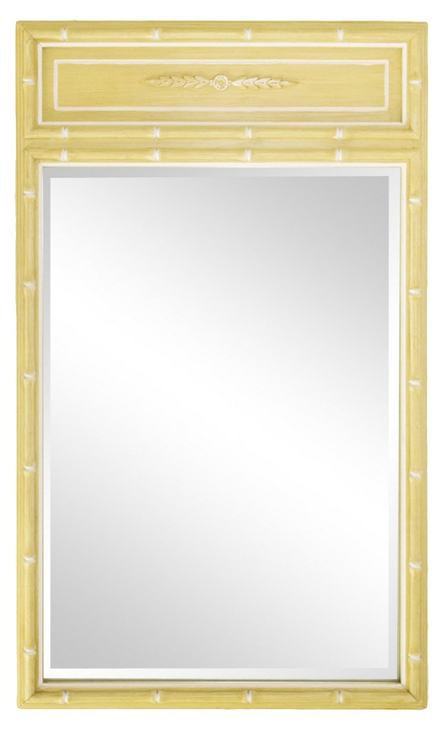 Faux-Bamboo Painted Mirror