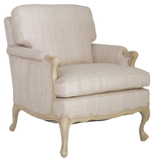 Bergère w/ Natural Linen Upholstery