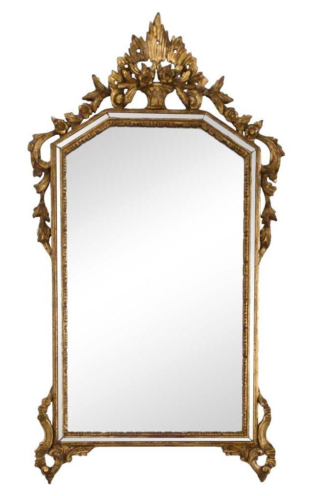 Italian Louis XV-Style Giltwood Mirror
