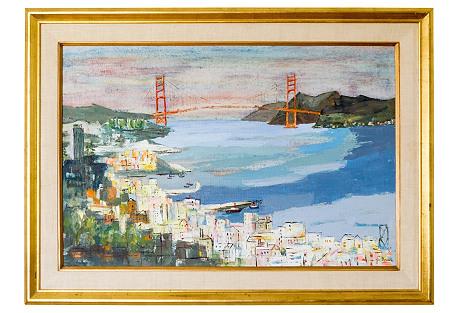 San Francisco Bay Painting by Jo Bovill