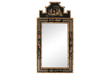 Chinoiserie Faux-Bamboo Pagoda Mirror