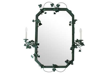 Ivy Vines & Double-Sconce Mirror