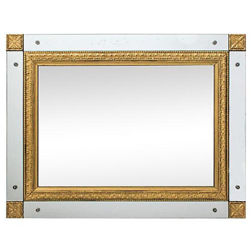 Giltwood Mirror w/ Mirror Panel Frame
