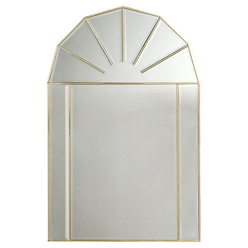 Arched Mirror w/ Beveled Mirror Panels