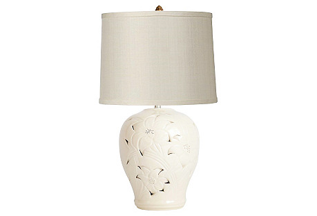 Pierced Ginger Jar Lamp