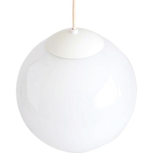 1960s Glass Globe Pendant Light
