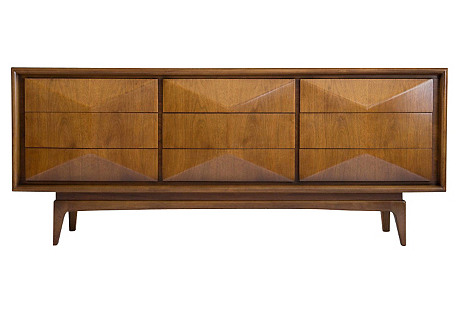 Diamond Front Long Dresser by United