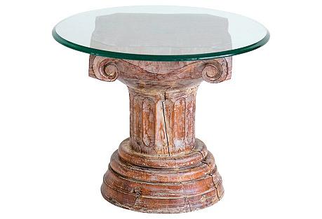 Carved Column Side Table