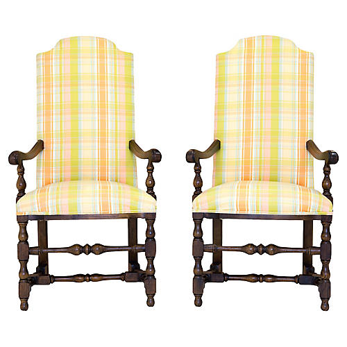 Tall Armchairs by Century, Pair