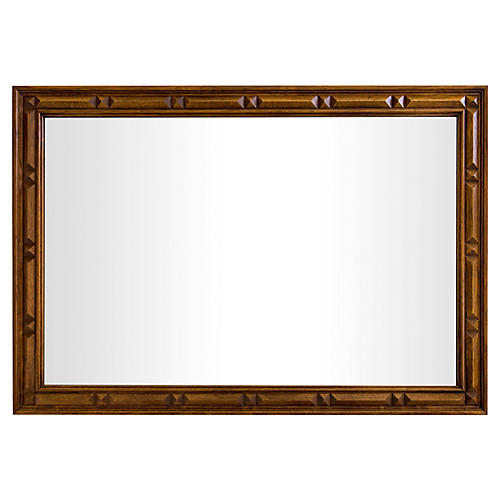 Large Walnut Mirror by Thomasville
