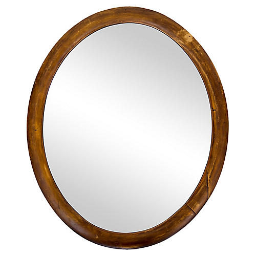 Small Oval Mirror w/ Rounded Frame