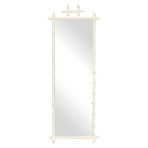 Full Length Faux Bamboo Wall Mirror