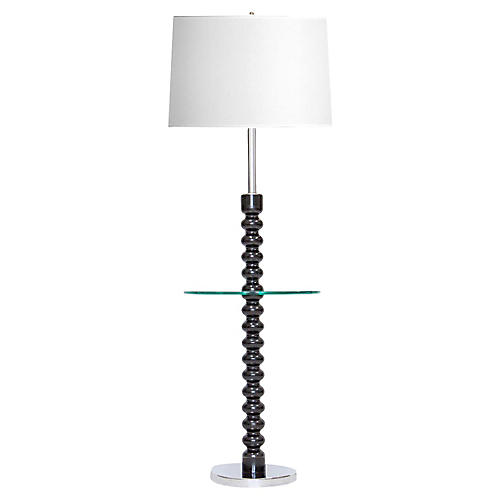 Stacked Ball Floor Lamp w/ Glass Table