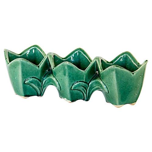 Green Tulip Triple Jardinere