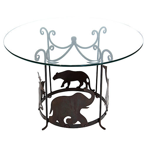 Iron Animal Themed Coffee Table