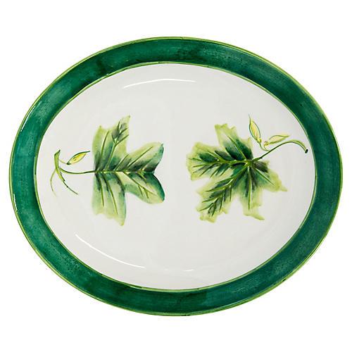 Large Oval Italian Hand-Painted Platter
