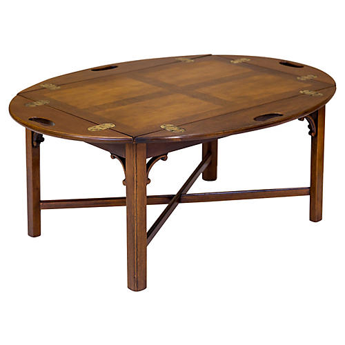 Tray-Style Butler's Coffee Table