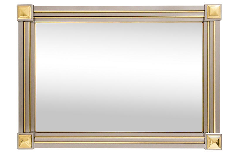 Italian Mixed Metal Mirror by La Barge