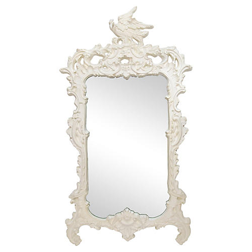 Chinese Chippendale Eagle Crest Mirror