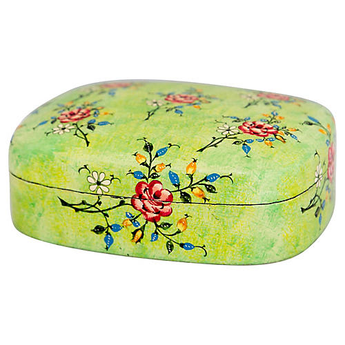 Lacquered Papier Mache Box from India