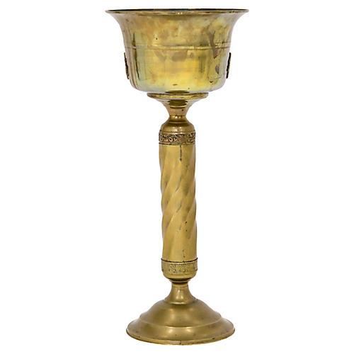 Brass Pedestal Jardiniere