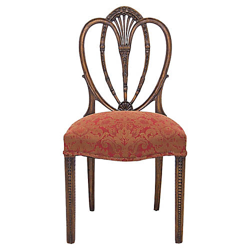 Carved Hepplewhite Side Chair
