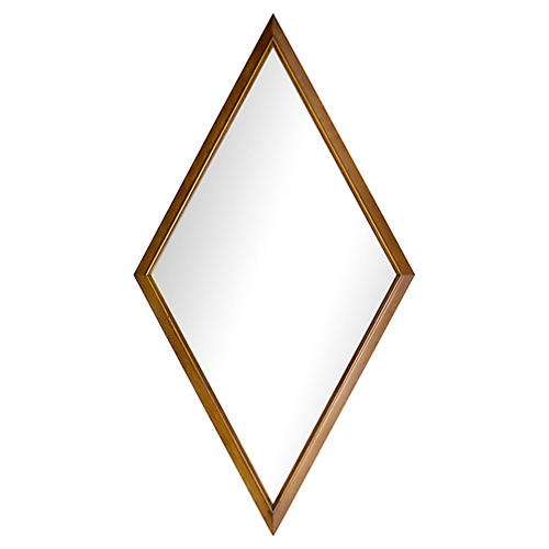 1960s Walnut Diamond-Form Mirror