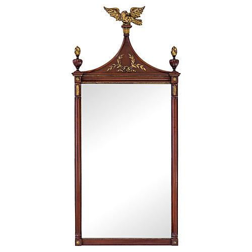 Mahogany & Gilded Mirror w/ Carved Eagle