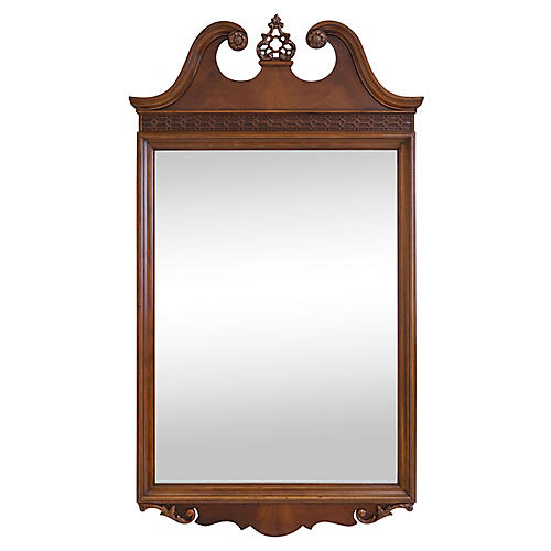 Georgian-Style Mirror w Fretwork