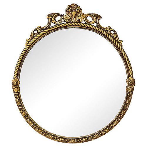 Giltwood Louis XV Circular Mirror