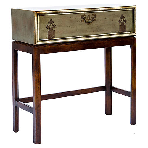 Asian Inspired Chest On Stand Console