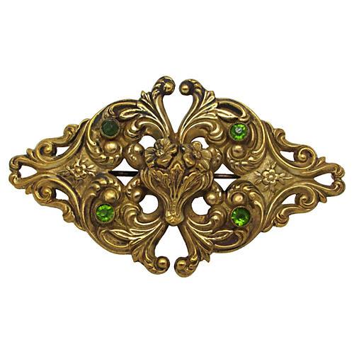 Victorian Floral Sash Pin