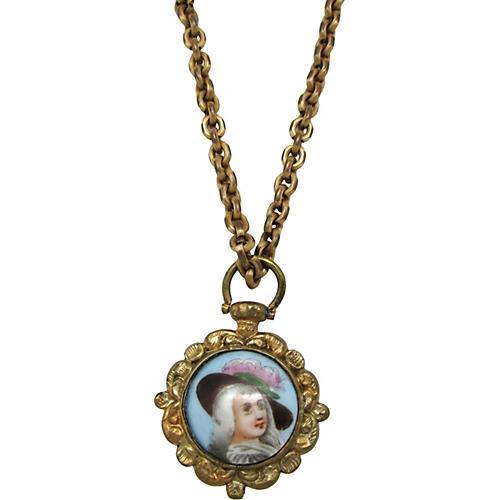 Victorian Revival Portrait Pendant
