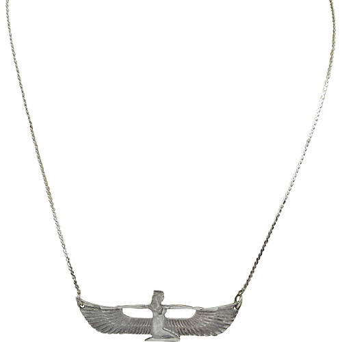 Sterling Egyptian-Revival Necklace