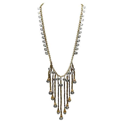 Czech Glass Festoon Necklace