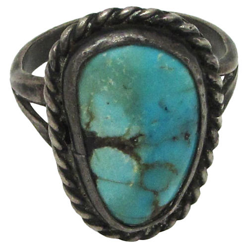 Native American-Style Turquoise Ring