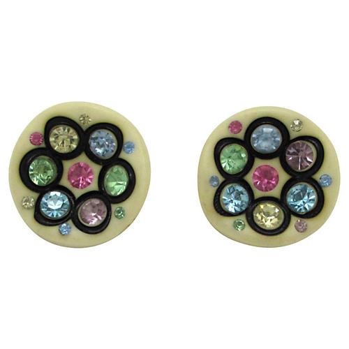 Thermoplastic Multi Rhinestone Earrings