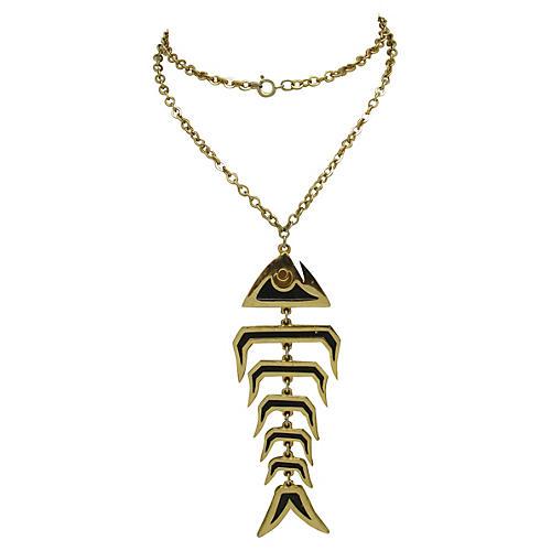 1970s Bonefish Necklace