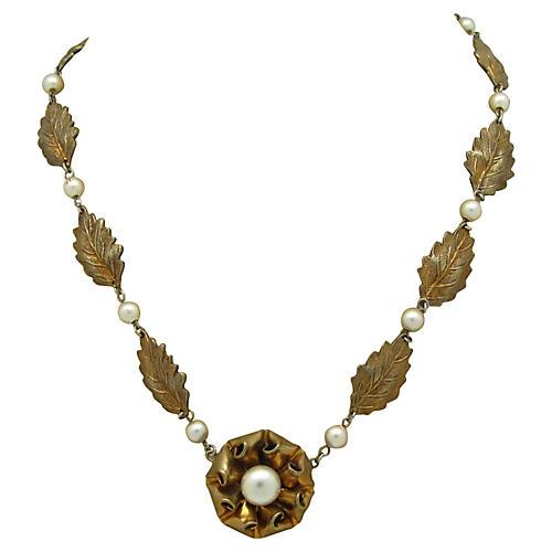 Art Nouveau Floral Necklace