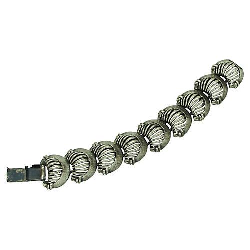 1960s Crescent Link Bracelet