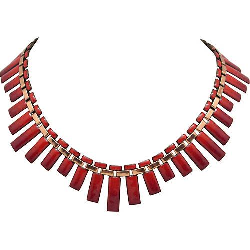 Matisse Enameled Step-Design Necklace