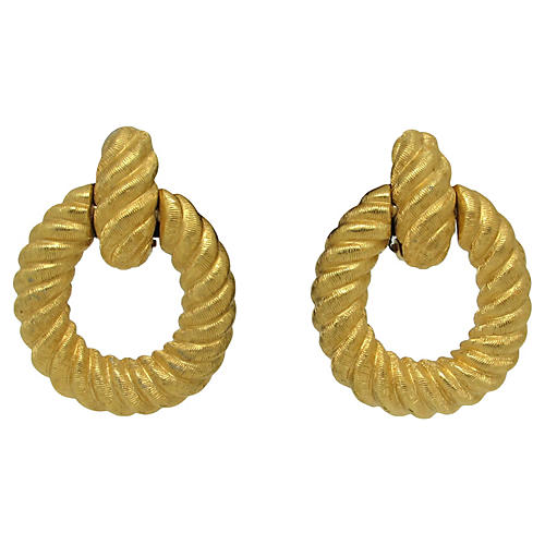 Scalloped Door Knocker-Style Earrings