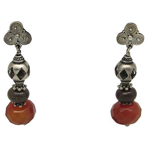 Sterling & Carnelian Earrings