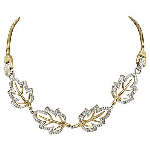 Dewees Leaf-Design Necklace